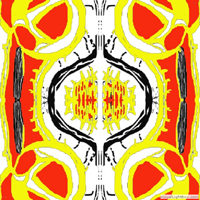 a red and yellow design for square tiles